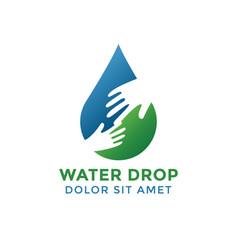 water drop graphic design template vector image
