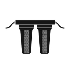 Water filters icon in black style isolated on vector