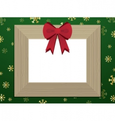 Wooden Christmas picture frame vector
