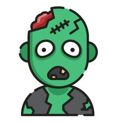 Zombie linecolor vector
