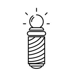 Line baber shop symbol to haircut service vector