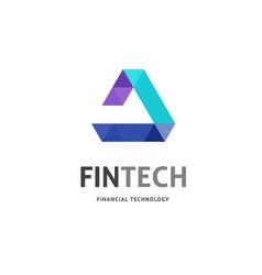 modern logo concept design for fintech vector image vector image