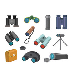 binoculars glasses look-see isolated on white vector image