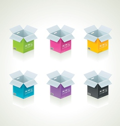 colorful boxes vector image vector image