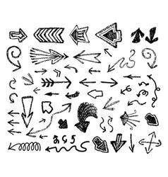 doodle arrows set vector image vector image