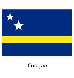 Flag of the country curacao vector image vector image
