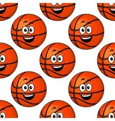 Happy round smiling orange emoticons vector image