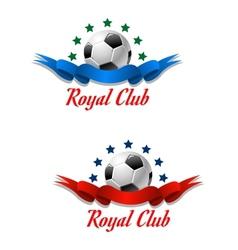 Royal club soccer championship emblem vector