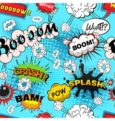 Seamless pattern comic speech bubbles illus vector image
