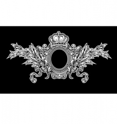 antique crown royal frame vector image