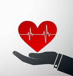 Logo heart Stock vector image vector image