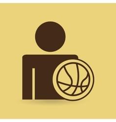 Man baskette ball design icon vector