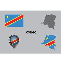 Map of Congo and symbol vector image vector image