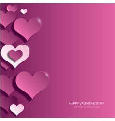Modern bright valentines day background vector image vector image