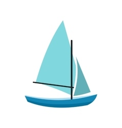 Ship yachts icon vector image vector image