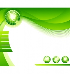 abstract background with globes vector image vector image