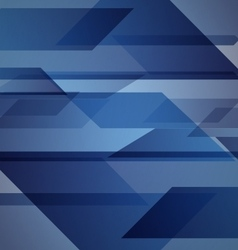 Abstract blue background with geometric shapes vector image