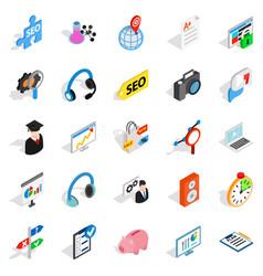academic degree icons set isometric style vector image