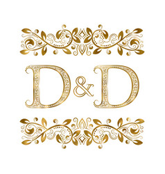 D and d vintage initials logo symbol the letters vector