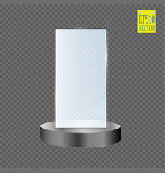 Glass shining trophy isolated on black vector