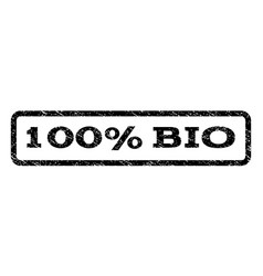 100 percent bio watermark stamp vector
