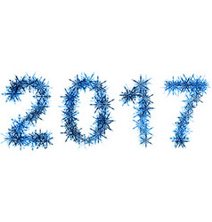 2017 New Year winter banner vector