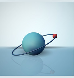 a hydrogen atom the electron in orbit the vector image