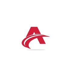A initial curve logo vector