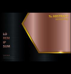 Abstract gold metallic template luxury design vector