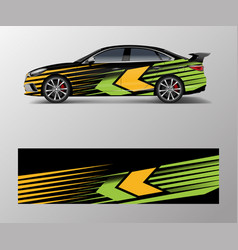 abstract stripe for racing car wrap sticker vector image