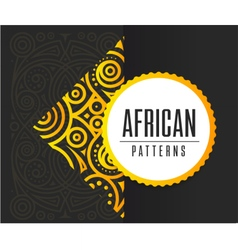 African Golden pattern on black background vector