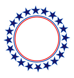 American stars round frame logo symbol vector