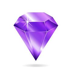 Amethyst gemstone vector