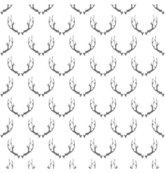 Animal Horns Seamless Pattern vector image
