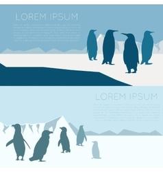 Antarctic banner3 vector image
