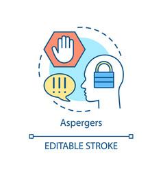 Asperger syndrome concept icon vector