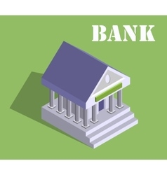 Bank finance money flat 3d web isometric vector
