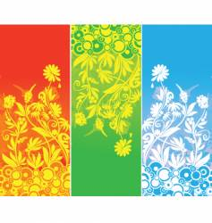 banner three color vector image