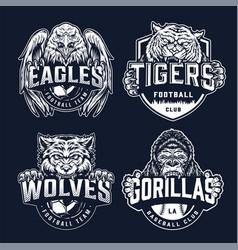 baseball and football teams sport logos vector image