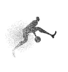 Basketball player silhouette particle background vector