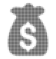 Black dotted financial capital icon vector