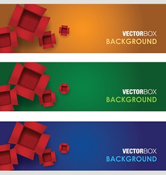 Box banners vector
