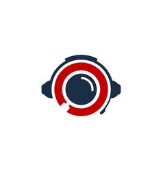Browse podcast logo icon design vector