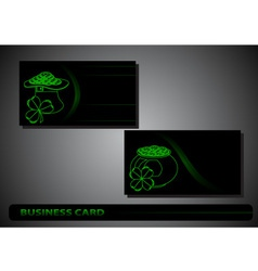 business card St Patricks Day vector image