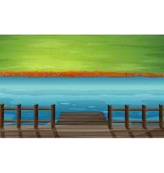 Cartoon River Dock vector