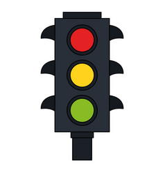 Color image traffic light element of street vector