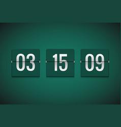 Countdown timer clock counter flip timer vector