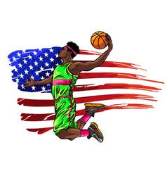 Creative a basketball player vector