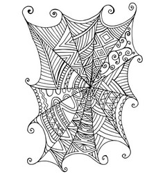decorative beautiful spider web children s vector image