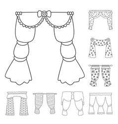 Design fabric and decoration icon set vector